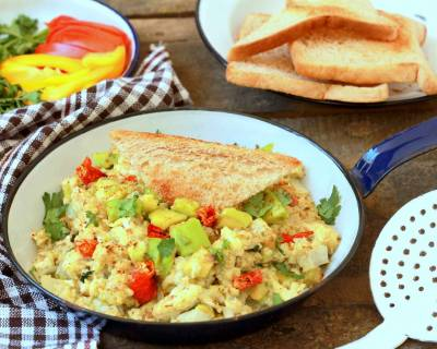 Spicy Avocado Scrambled Eggs Recipe