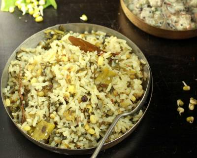 Sprouted Moong And Methi Pulao Recipe