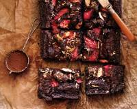 Strawberry Brownie Bars Recipe