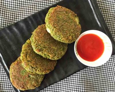 Green Spinach & Oats Cutlet Recipe
