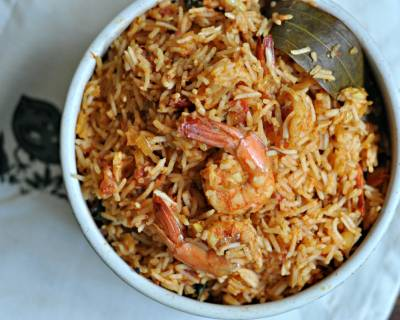 कोलम्बी भात - Maharashtrian Prawn Rice Recipe