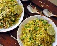 Matar Poha Recipe (Flattened Rice Stir Fry with Green Peas)