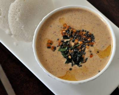 Andhra Style Peanut Chutney Recipe With Tomatoes