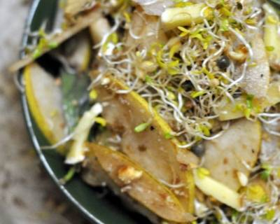 Pear And Alfalfa Sprouts Salad Recipe