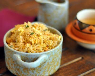 Spicy Schezwan Indo-Chinese Egg Fried Rice Recipe