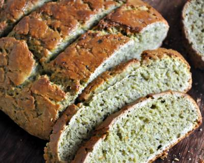 Whole Wheat Oats And Pesto Bread Recipe