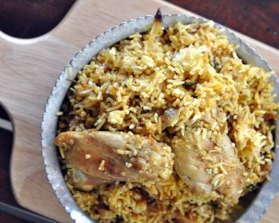 Calcutta Style Chicken Biryani Recipe