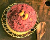 Pink Dragon Fruit Kesari Recipe (Sooji Halwa with Dragon fruit)