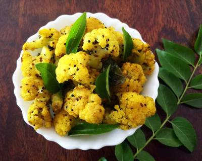 चेटिनाड स्टाइल काली मिर्च गोभी - Cauliflower Pepper Fry (Recipe In Hindi)