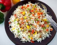 Crunchy Ginger Capsicum Rice Recipe