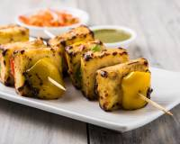 Grilled Pesto Paneer Recipe