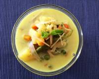 Mint Vegetables Moilee Recipe (Mixed Vegetables Cooked In Minty Coconut Milk)