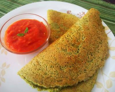 Oats Pesarattu Recipe - Oatmeal & Green Gram Crepes