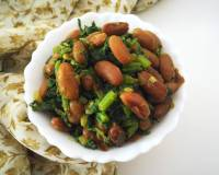 Rajma Saagwala (Dry Kidney Beans And Spinach Stir Fry) Recipe