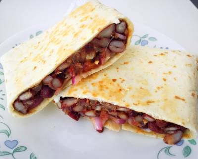 Red Kidney Beans Tortilla Wraps Recipe