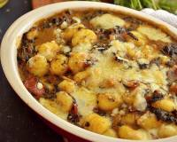 Gnocchi in Indian Curry Sauce with Spinach and Cheese Recipe