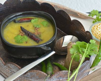 Moong Dal Rasam/Pesara Pappu Charu Recipe (Lemon Infused Indian Lentil Soup)