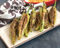 Bharwa Besan Mirch Sabzi Recipe - Chillies Stuffed With Spiced Gram Flour