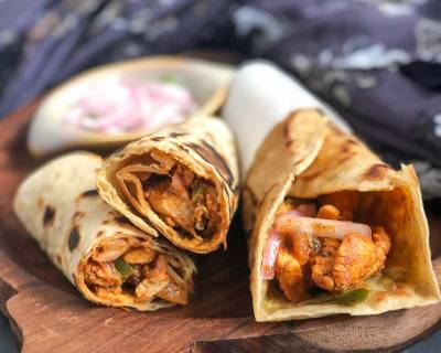 Chicken Kathi Roll Recipe