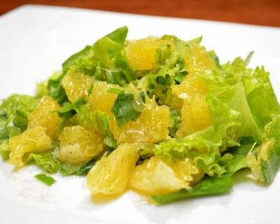 Lettuce, Orange And Spinach Salad Recipe