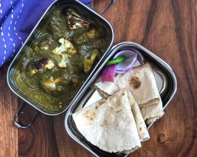 Lunch Box Recipes: Hariyali Gobi, Millet Roti & Curd