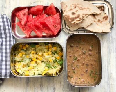 Lunch Box Recipes: Jowar Atta, Kala Chana Masala & Corn Salad