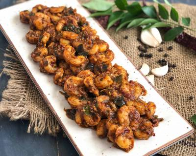 Prawn Ghee Pepper Masala Recipe With Garlic