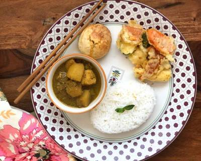 Try This Delicious Thai Curry, Veg Tempura & Taiwanese Pineapple Cake For A Weekend Dinner