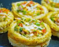 Mini Bread Pizza Recipe - Cheesy Canapes