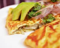 Mexican Style Omelette With Avocado Dressing Recipe