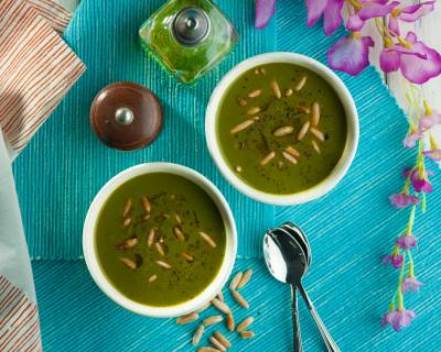 Chilled Spinach And Cucumber Soup Recipe