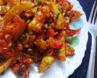 Crispy Vegetable In Schezwan Sauce Recipe