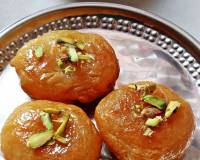 Goan Bhakkam Peda Recipe - Soft Dough Balls in Sugar Syrup
