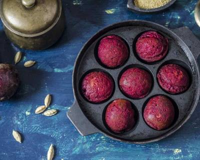 Beetroot Millet Paniyaram Recipe