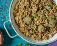 Soya Chunks And Beetroot Biryani Recipe