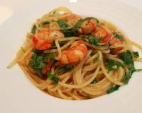 how to cook spaghetti prawn olio