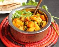 No Onion And No Garlic Aloo Gajar Matar Ki Sabzi Recipe