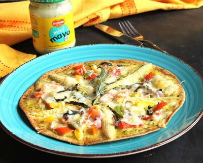 Vegetable Tortilla Pizza Recipe