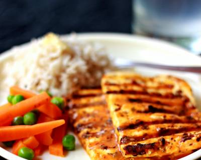 Grilled Peri Peri Paneer Recipe Using Nando's Lemon And Herb Sauce