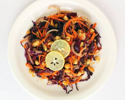 Asian Red Cabbage Salad With Roasted Peanuts Recipe