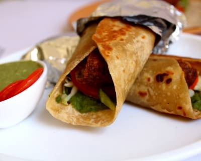 Spicy Vegan Falafel Wrap Recipe