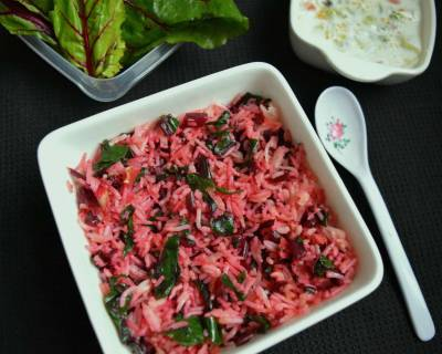 Beetroot Greens Rice Recipe