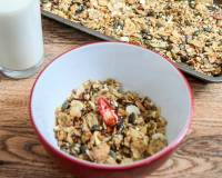 Homemade Granola Mix Recipe with Oats & Wheat Flakes