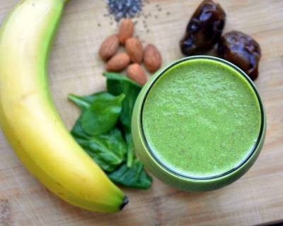 Spinach Dates & Banana Smoothie Recipe