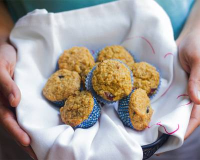 Banana And Cranberry Bran Muffins Recipe