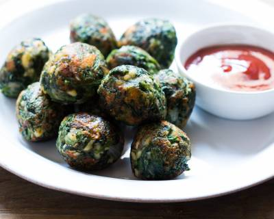 Garlic Spinach Balls Recipe