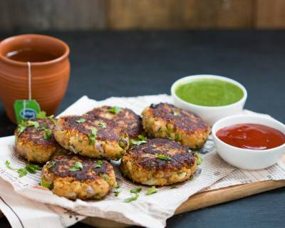 Green Peas, Potato and Paneer Tikki Recipe