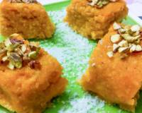 No Bake Rice Mawa Cake Recipe