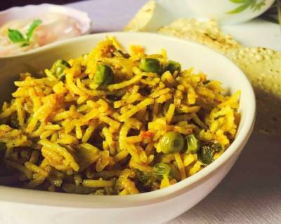 Saoji Methi Pulao Recipe - Maharashtrian Style Fenugreek Leaves Pulao
