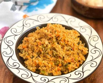 Spicy Dalia Pulao Recipe - Broken Wheat Pulao